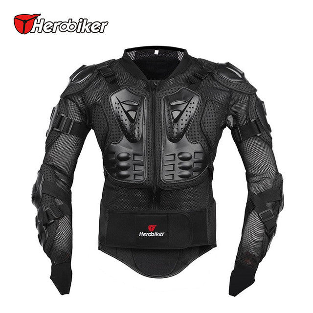 HEROBIKER Motorcycle Full Body Armor Jacket spine chest protection gear Motocross Motos Protector Motorcycle Jacket - PDXMotorSport