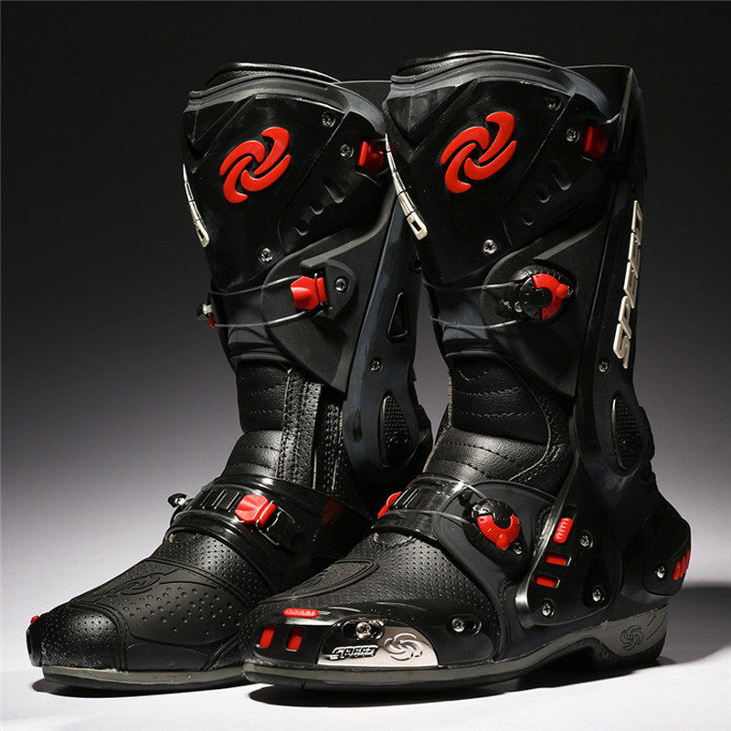 PRO-BIKER Motorcycle Boots Protective Motocross Racing Speed Motorbike Shoes Moto Boot Dirt Bike Cycling Sports Botas B1003 - PDXMotorSport