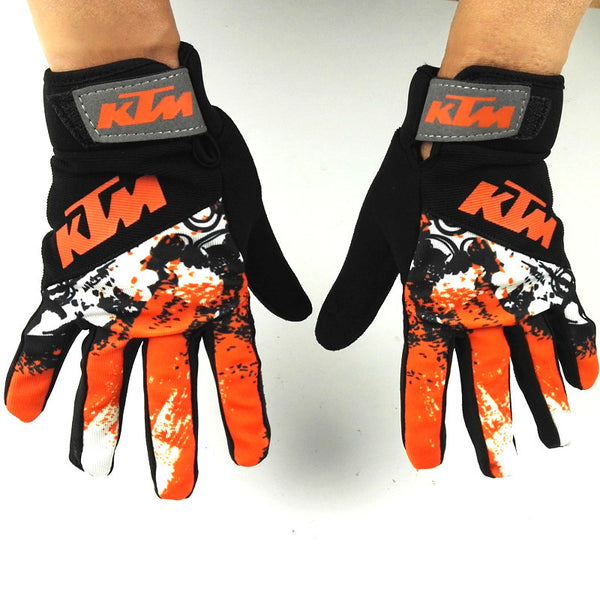 KTM Motorcycle Gloves Retro Kawasaki Motor Racing Gloves Men's Motocross Full Finger Gloves Size M/L/XL/XXL