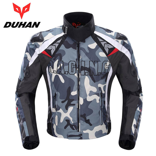 DUHAN Men's Oxford Cloth Motocross Off-Road Racing Jacket Guards Clothing Camouflage Motorcycle Alloy Shoulder Protector Jacket - PDXMotorSport