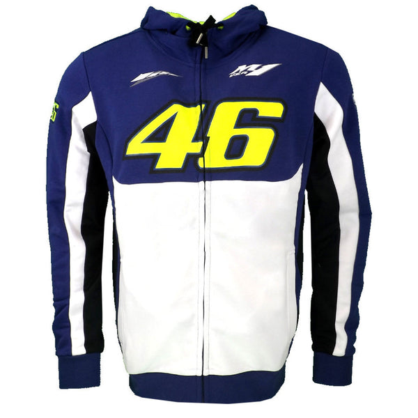 2017 Valentino Rossi VR46 M1 Factory Racing Team Moto GP Adult Hoodie Sports Sweatshirt Jackets Blue