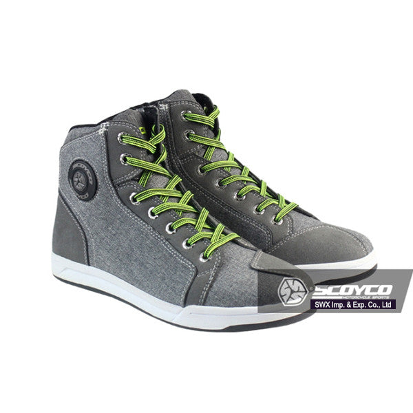 Motorcycle Boots men Road street casual shoes bato motocross Boots moto grey scoyco protective gear flax Microfiber 39-46 - PDXMotorSport