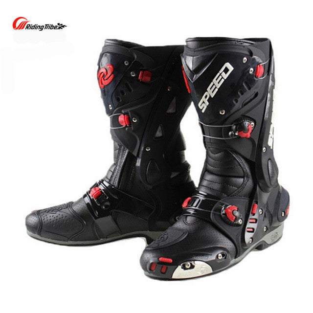 Riding Tribe Upgrade Motorcycle Boot Pro Racing Opening Boots Professional Riding Non-slip Mircrofiber Leather boots boats - PDXMotorSport