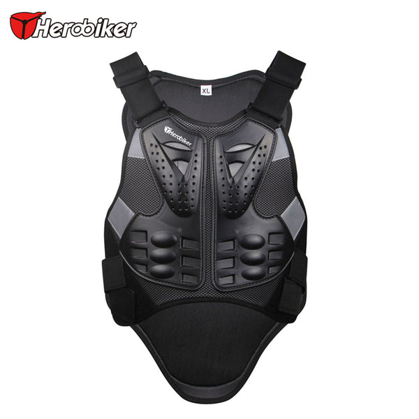 HERO BIKER Motocross Racing Armor Black Motorcycle Riding Body  Protection Jacket With A Reflecting Strip Motorcycle Armor