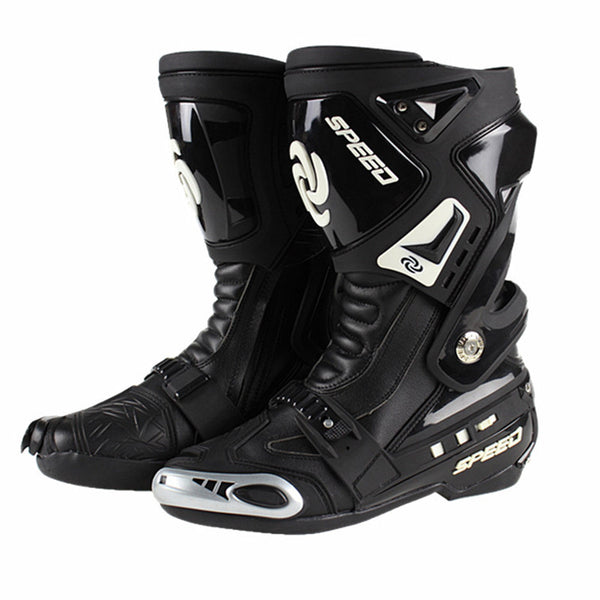 Genuine PRO-BIKER Speed Motorcycle Racing Road Race boots Sneakers Shoes Knight Microfiber Leather Non-slip Wear-resistant boots