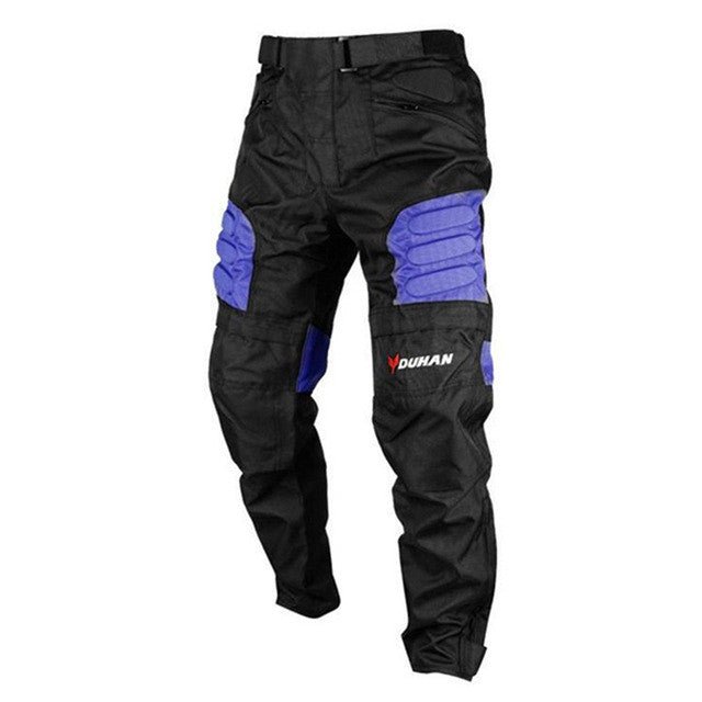 DUHAN Men's Motocross Off-Road Trousers Motorcycle Racing Pantalon Windproof Riding Sports Pants Knee Protective Guards - PDXMotorSport