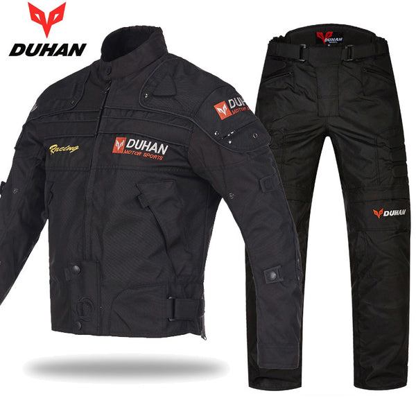 Original DUHAN Motorcycle Racing Motocross Jackets&pants suits Oxford Drop Resistance Pad jacket