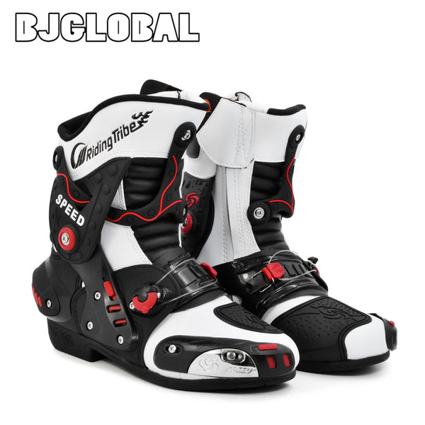 Riding Tribe Men Motorcycle Boots Motocross Racing Speed Motorbike Shoes Moto Boot Men Dirt Bike Cycling Sports Botas B1001