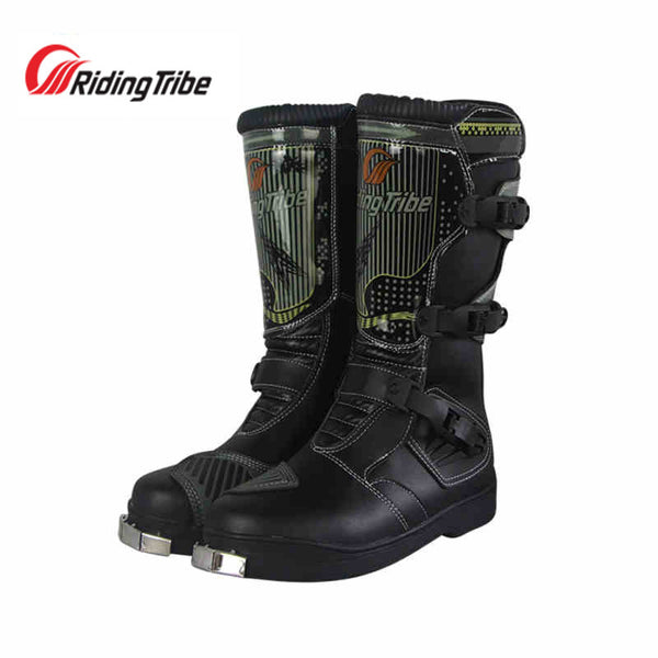 Waterproof Pu Leather Motorcycle Waterproof Boots Professional SPEED Racing Motorcross Motorbike Riding Boots