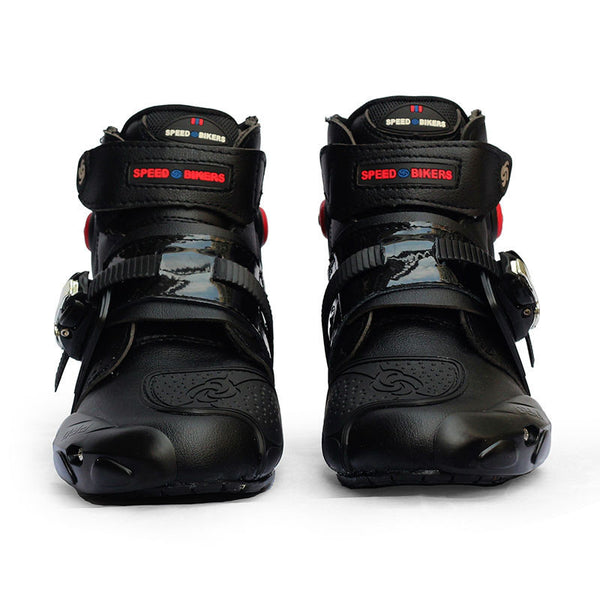 Pro-biker automobile racing shoes off-road motorcycle boots Professional moto black botas Speed Sports Motocross Black