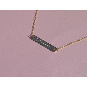 Personalized Engraved Bar Necklace - Coco's Kloset
