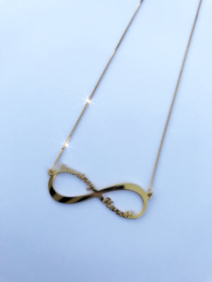 Personalized Two Name Infinity Love Necklace - Coco's Kloset