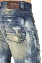 "Relaxed Premium Denim 13"" Cut Off 5 Pocket Shorts Tainted Destroyed & Mended"
