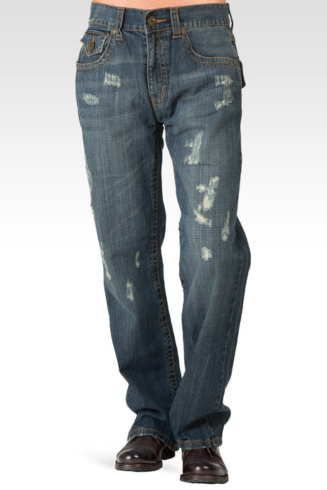 Midrise Relaxed Vintage Bootcut Distressed Premium 5 Pocket Jeans