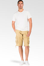 Relax Midrise Fit Timber Canvas Stone Wash Utility Shorts Multi Cargo Pockets