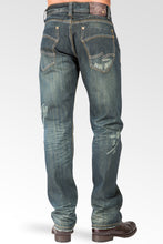 Relaxed Straight Ripped Faded Vintage Premium Denim Signature 5 Pocket Jeans Wrinkle Whisker