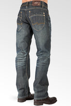 Relaxed Straight Vintage Whisker signature 5 Pocket Jeans With Artisan Scratching