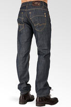 Relaxed Straight Coating Raw Indigo Premium Denim signature 5 Pocket Jeans