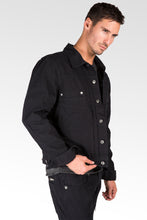 Black Heavy Canvas Trucker Jacket 100% Cotton Rugged & Stylish