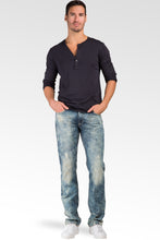 Slim Straight Premium Denim Light Vintage Distressed Signature 5 Pocket Jeans