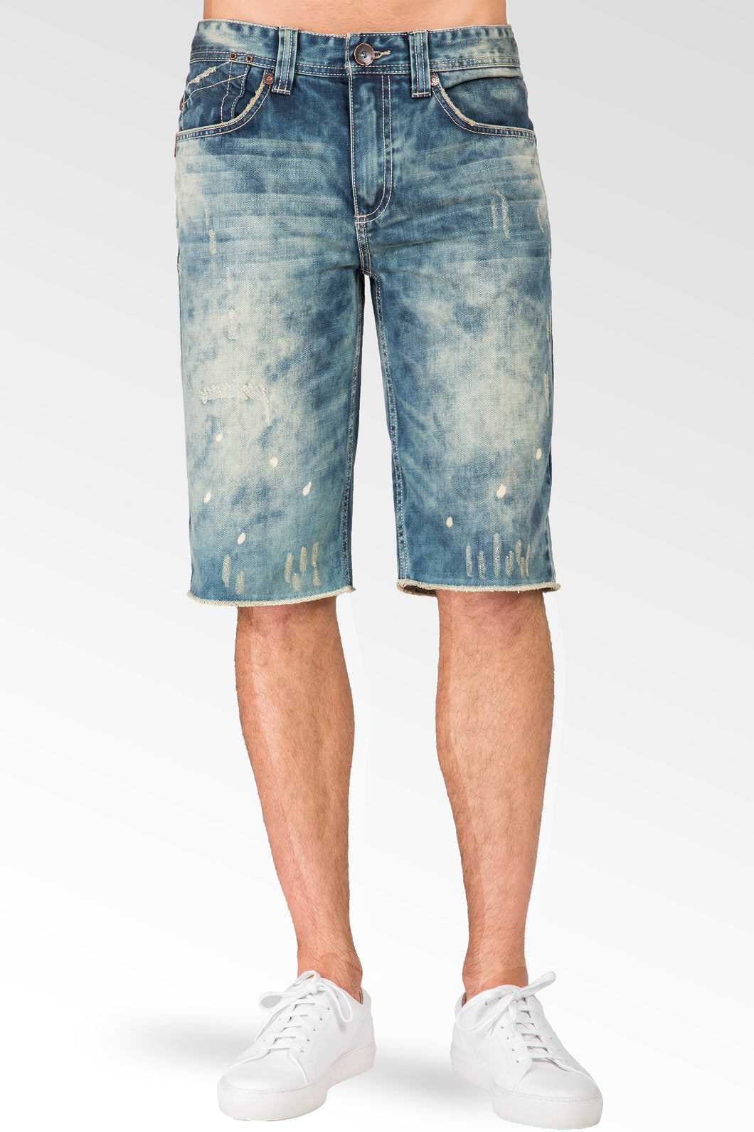 Relaxed Midrise Cut Off Premium denim 13