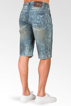 "Relaxed Midrise Dirty Bleached Cut Off 13"" Premium Denim Shorts Destroyed & Mended"