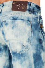 "Relaxed Midrise Light Blue premium Denim Cut Off 13"" 5 pocket Shorts Clouded Bleached Wash"