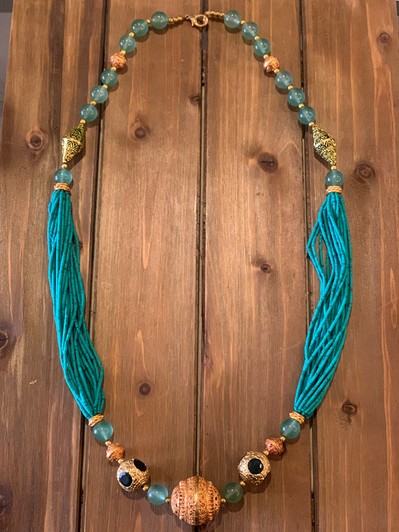Green Turquoise & Green Aventurine Necklace