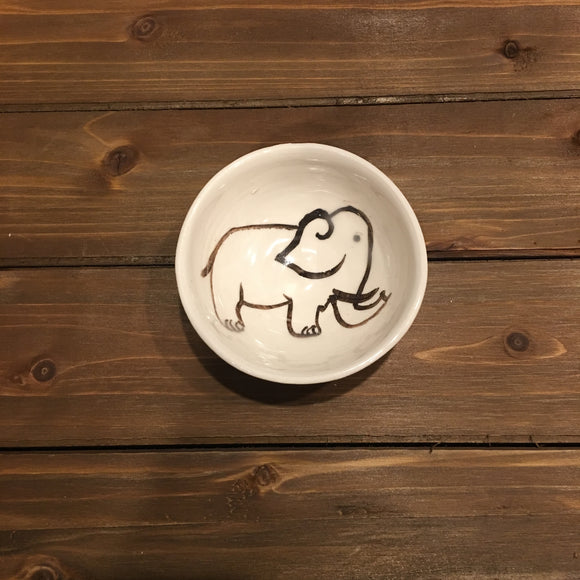 Ceramic Elephant Bowl, Small Size