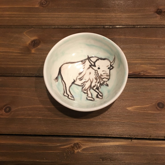 Ceramic Buffalo Bowl, Small Size