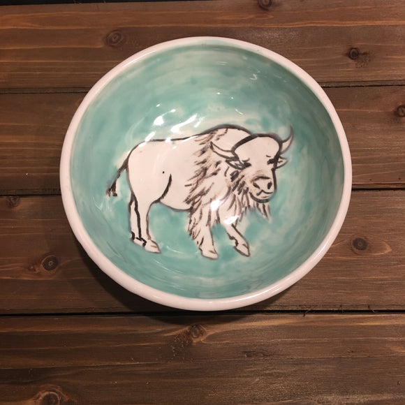 Ceramic Buffalo Bowl, Large Size