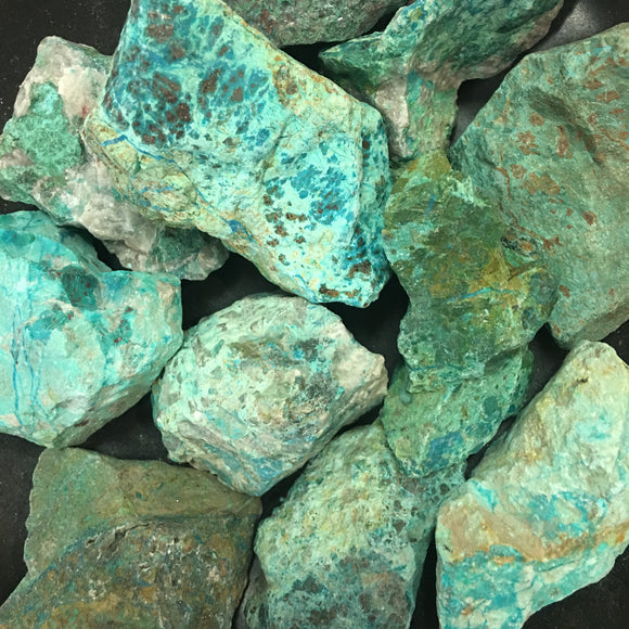 Chrysocolla, Rough Cut