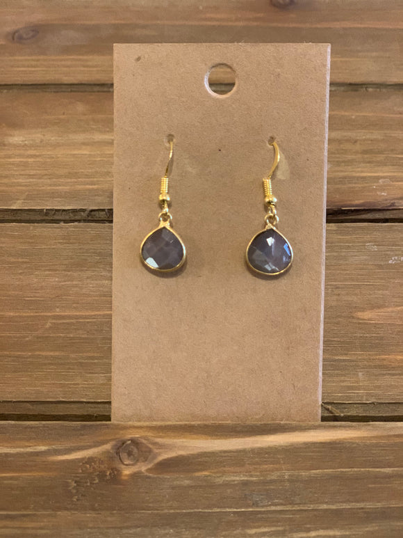 Chocolate Moonstone Earring