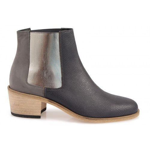 Jerry Ankle Boots - Textured Grey Basket