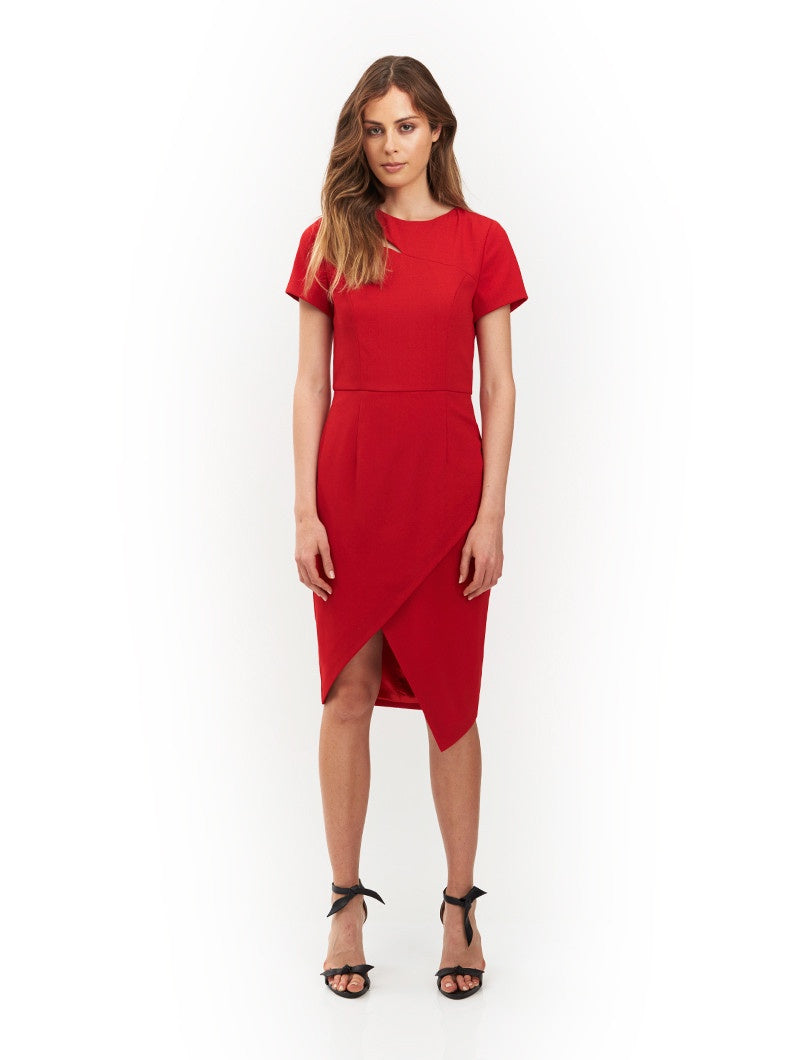 Francis Cut Out Dress - Red