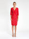 Lamour Wrap Dress - Red