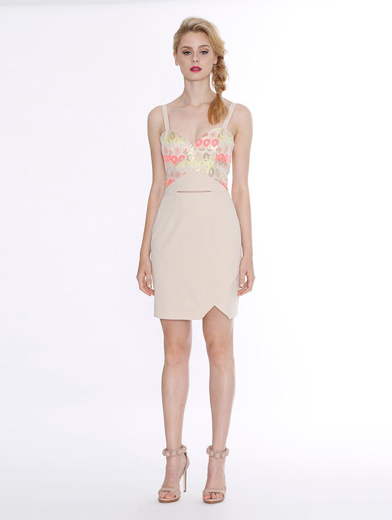 Aspect Dress - Beige Pattern