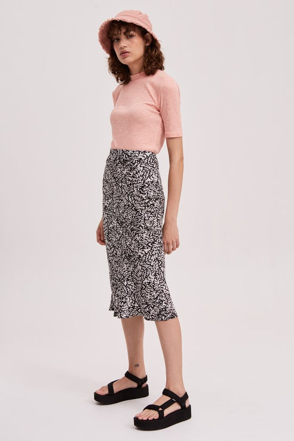 Trio Skirt - White with Black Snake