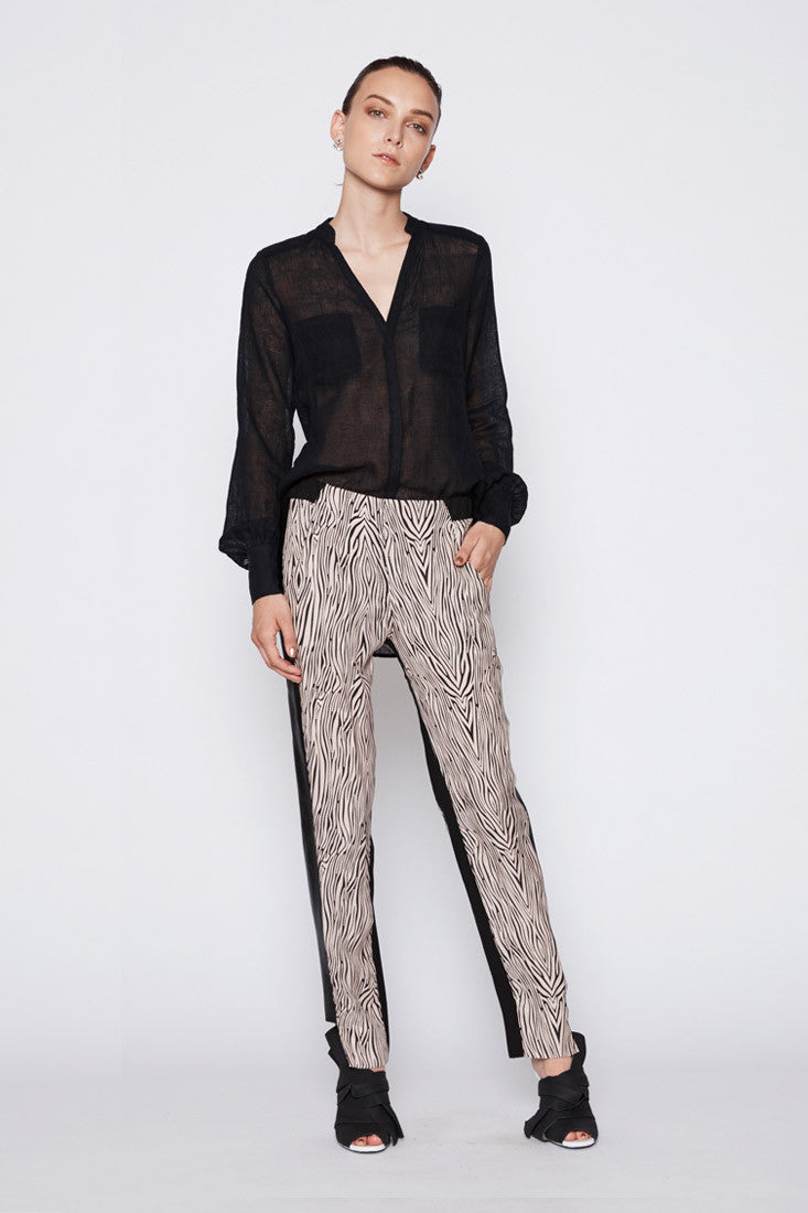 Tribe Leather Panel Pants - Jamala Print