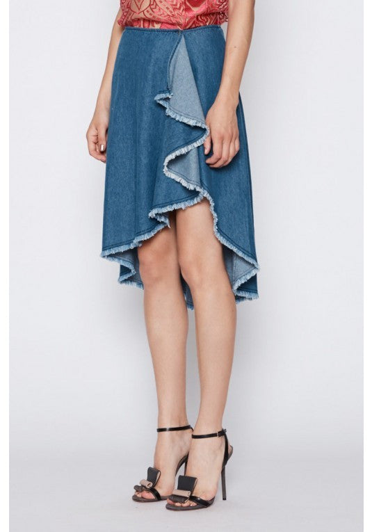 Cango Waterfall Skirt - Indigo