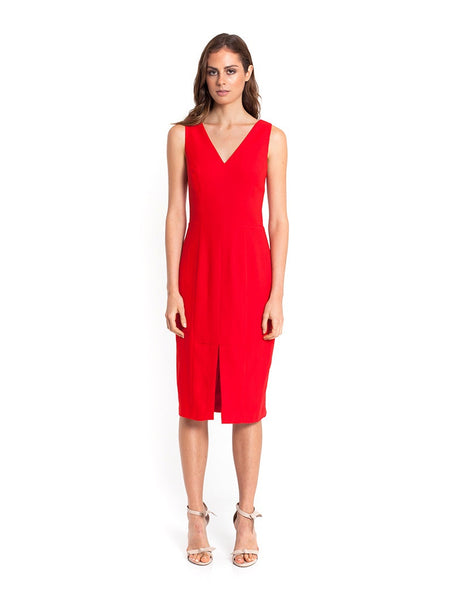 Isabella Fitted Dress - Red