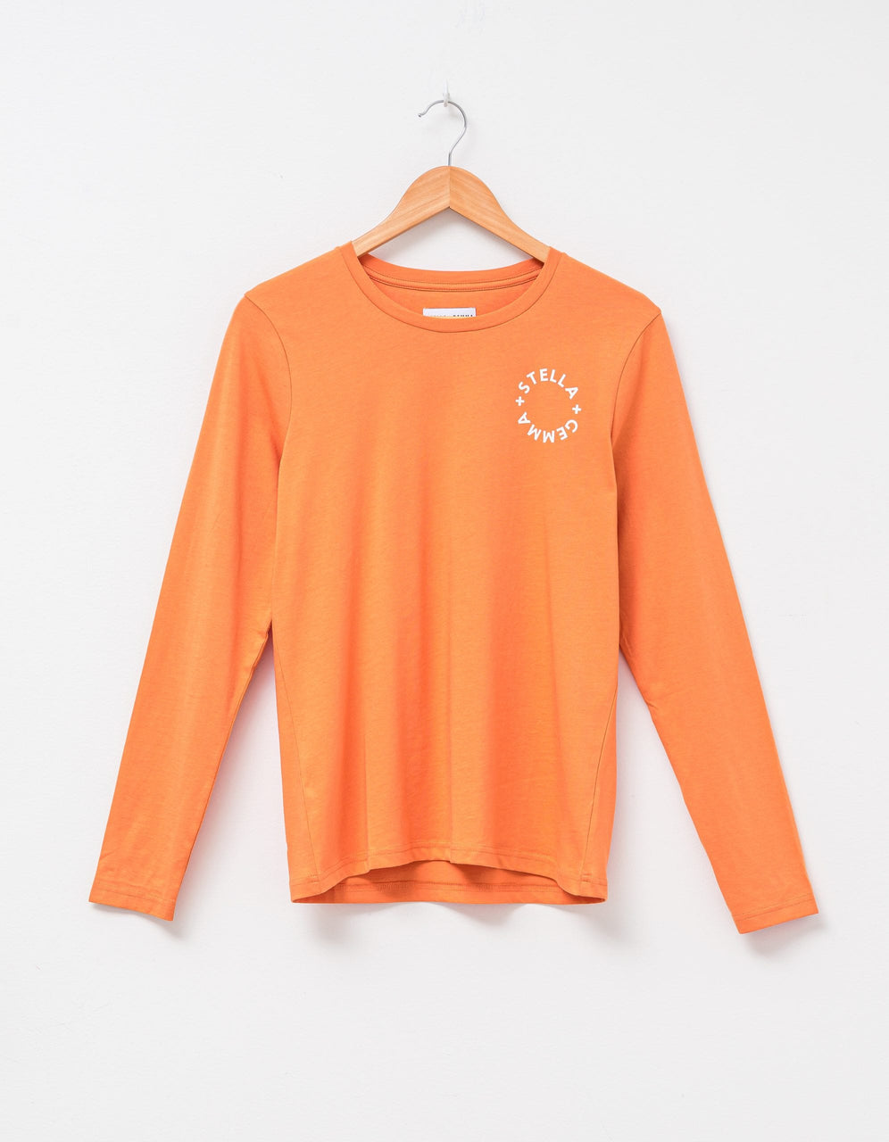 Round Neck Long Sleeve Top - Amber with S+G Logo