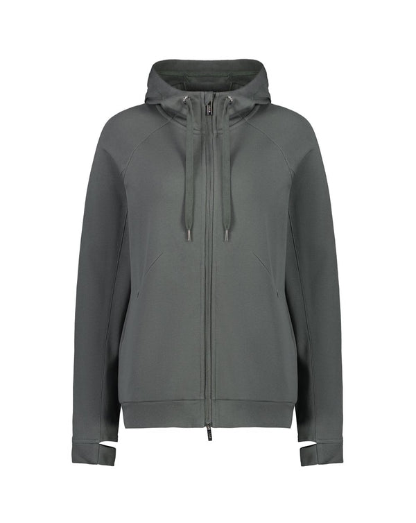Molly Zip Up Sweater - Seal Grey