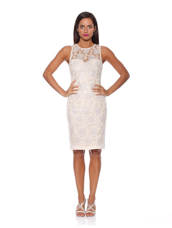 CLEARANCE Rose Riviera Dress - Cream