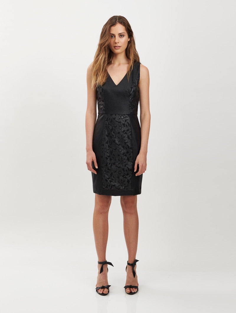 Camille Fitted Dress - Black
