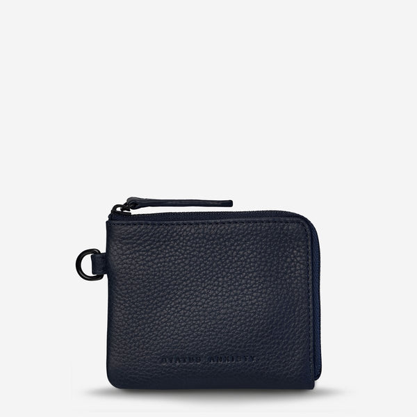 Part Time Friends Key Ring Pouch - Navy Blue