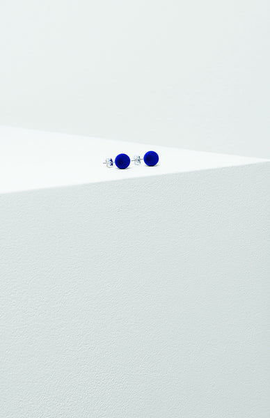 Velvet Stud Earrings - Tanzanite