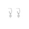 Bud Base Hoop Earrings - Sterling Silver