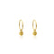 Ridge Sleeper Hoop Earrings - Yellow Gold