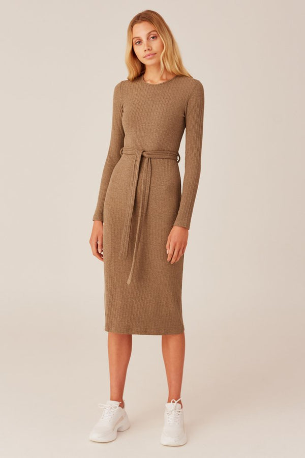 Duration Dress - Khaki Marle